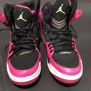 Jordan Hot Pink/Black Shoes Size 7Y Women's 8.5